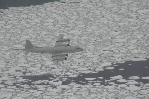 海氷観測 海上自衛隊八戸航空基地 P-3C No1