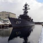 八戸基地【海氷観測】&1万トンドライドッグに入渠(にゅうきょ)する護衛艦