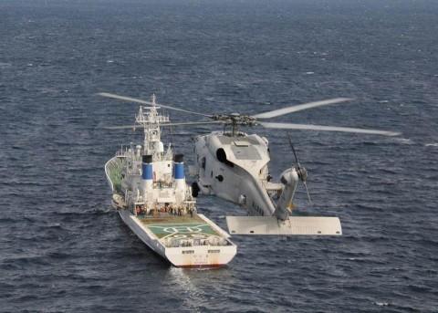 佐世保地方総監部と海上保安庁第七管区との共同訓練の記録4