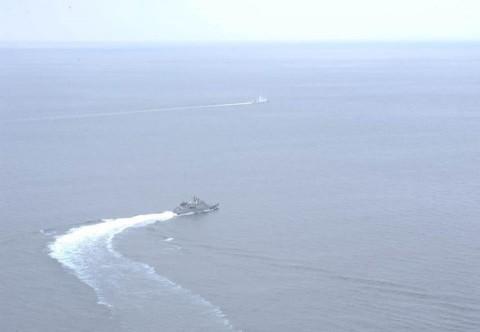 佐世保地方総監部と海上保安庁第七管区との共同訓練の記録5