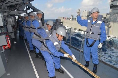 平成27年度外洋練習航海(部内)の様子No2