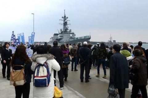 護衛艦「ゆうだち」出国行事05