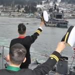 護衛艦「ゆうだち」出国行事 派遣海賊対処行動水上部隊(24次隊)