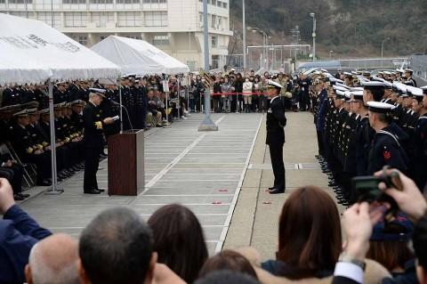 護衛艦「ゆうだち」出国行事 派遣海賊対処行動水上部隊(24次)no2