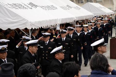 護衛艦「ゆうだち」出国行事 派遣海賊対処行動水上部隊(24次)no3