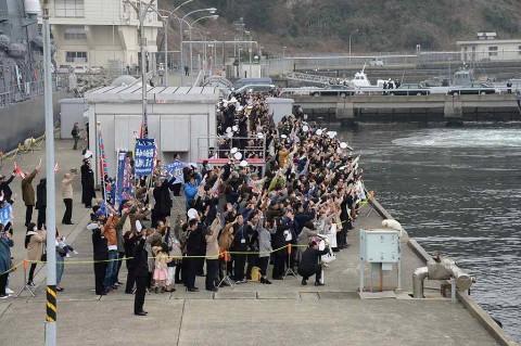 護衛艦「ゆうだち」出国行事 派遣海賊対処行動水上部隊(24次)no6