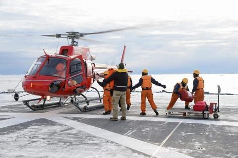 砕氷艦「しらせ」による豪観測隊員等の輸送NO4