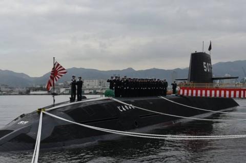潜水艦「じんりゅう」自衛艦旗授与式 (東京音楽隊 三宅3曹歌唱)2