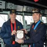 本邦西方海域で実施した日米共同巡航訓練の記録 28.3.10(木)