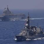 日フランス親善訓練 第23次海賊対処行動水上部隊「すずなみ」