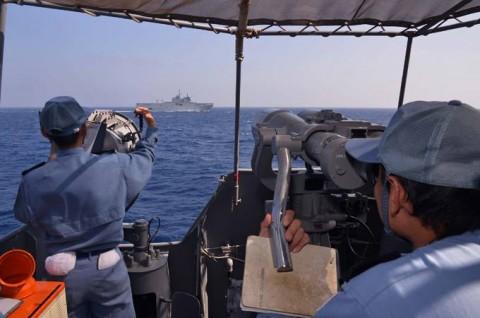 日フランス親善訓練 第23次海賊対処行動水上部隊「すずなみ」6