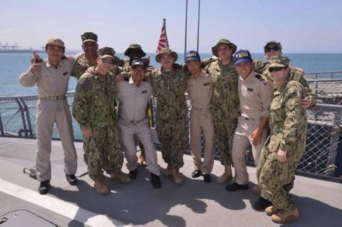 派遣海賊対処行動水上部隊(23次隊) 護衛艦「すずなみ」、「まきなみ」隊員の記録04