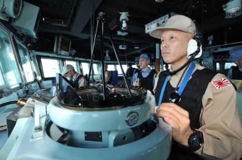 派遣海賊対処行動水上部隊(24次隊) 護衛艦「ゆうだち」・「ゆうぎり」隊員の記録04