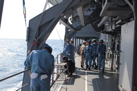 派遣海賊対処行動水上部隊(24次隊) 護衛艦「ゆうだち」・「ゆうぎり」隊員の記録34