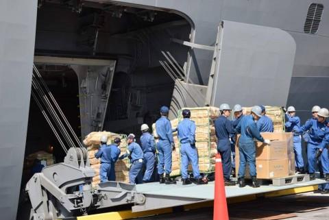 熊本県益城町で発生した地震への災害派遣 防衛省海上自衛隊No3