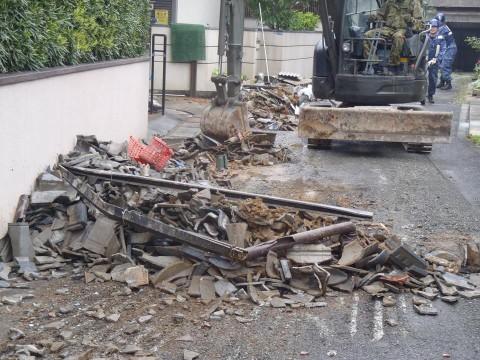 熊本地震への災害派遣(海上自衛隊 機動施設隊[八戸])2