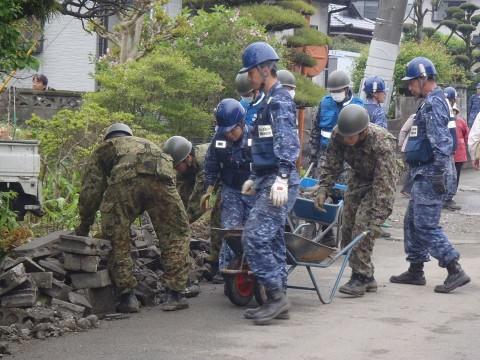 熊本地震への災害派遣(海上自衛隊 機動施設隊[八戸])3