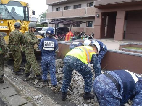 熊本地震への災害派遣(海上自衛隊 機動施設隊[八戸])4