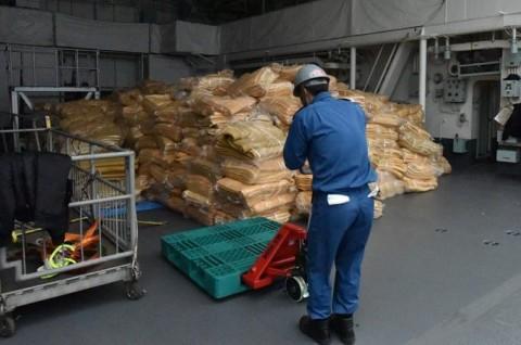 熊本益城町で発生した地震への災害派遣(掃海母艦「ぶんご」)2