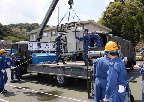 熊本地震への災害派遣(舞鶴)1