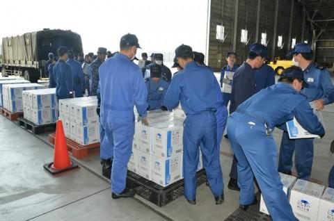 熊本地震への災害派遣(岩国)2