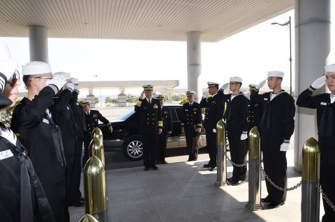 海上幕僚長 大韓民国海軍訪問