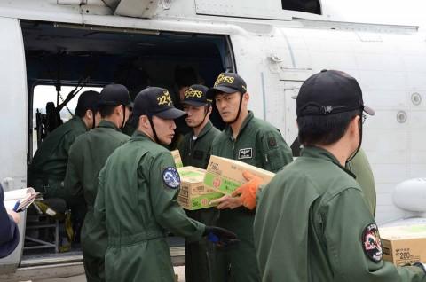 熊本県益城町で発生した地震への災害派遣(大村航空基地)No2