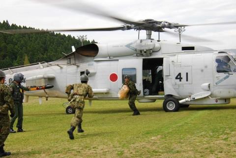 熊本県益城町で発生した地震への災害派遣(大村航空基地)No5