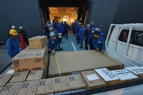 熊本県で発生した地震への災害派遣(輸送艦「しもきた」)No3