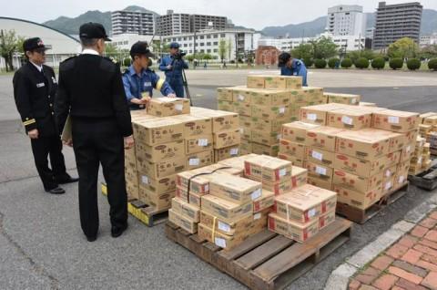 熊本益城町で発生した地震への災害派遣(掃海輸送ヘリコプター「MCH-101」NO01