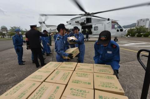 熊本益城町で発生した地震への災害派遣(掃海輸送ヘリコプター「MCH-101」NO03