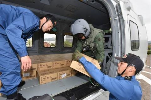 熊本益城町で発生した地震への災害派遣(掃海輸送ヘリコプター「MCH-101」NO04