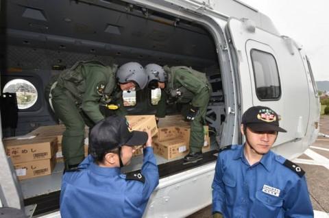 熊本益城町で発生した地震への災害派遣(掃海輸送ヘリコプター「MCH-101」NO05