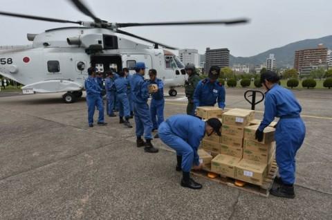 熊本益城町で発生した地震への災害派遣(掃海輸送ヘリコプター「MCH-101」NO06