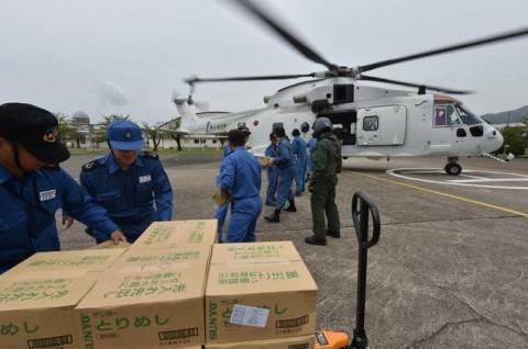 熊本益城町で発生した地震への災害派遣(掃海輸送ヘリコプター「MCH-101」NO07