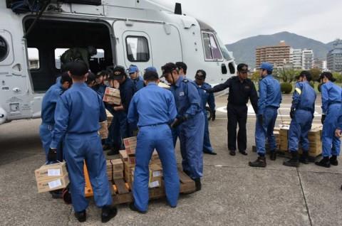 熊本益城町で発生した地震への災害派遣(掃海輸送ヘリコプター「MCH-101」NO08
