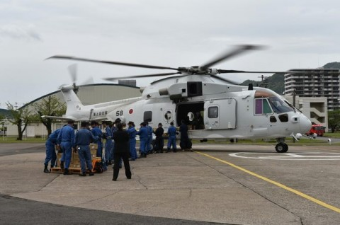 熊本益城町で発生した地震への災害派遣(掃海輸送ヘリコプター「MCH-101」NO09