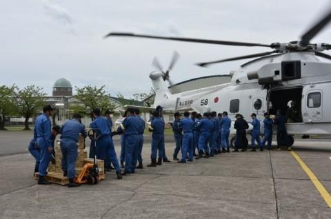 熊本益城町で発生した地震への災害派遣(掃海輸送ヘリコプター「MCH-101」NO10