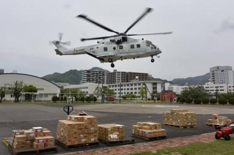熊本益城町で発生した地震への災害派遣(掃海輸送ヘリコプター「MCH-101」NO12
