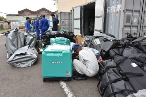 熊本益城町地震への災害派遣(緊急展開型入浴支援セット)1