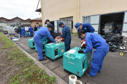 熊本益城町地震への災害派遣(緊急展開型入浴支援セット)2