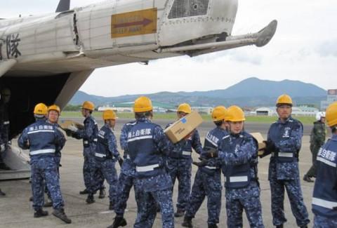 熊本益城町の地震への災害派遣(大村航空基地)No01
