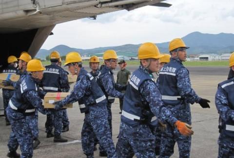 熊本益城町の地震への災害派遣(大村航空基地)No02