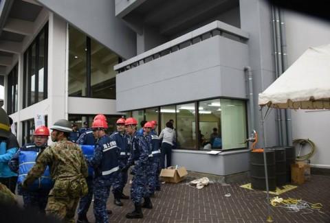 熊本益城町地震への災害派遣(輸送艦「おおすみ」)No4