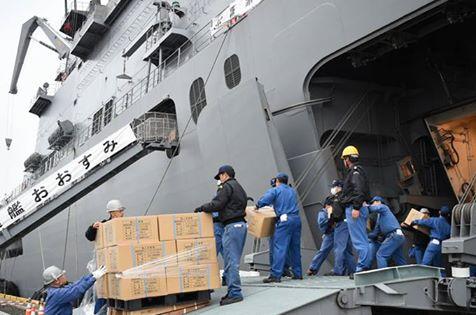 熊本益城町で発生した地震への災害派遣(輸送艦「おおすみ」No1