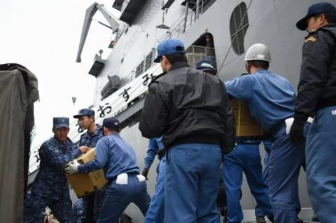 熊本益城町で発生した地震への災害派遣(輸送艦「おおすみ」No3