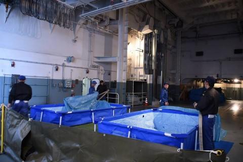 熊本地震への災害派遣(輸送艦「おおすみ」)2