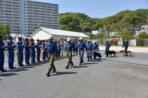 熊本地震への災害派遣(警備犬)1