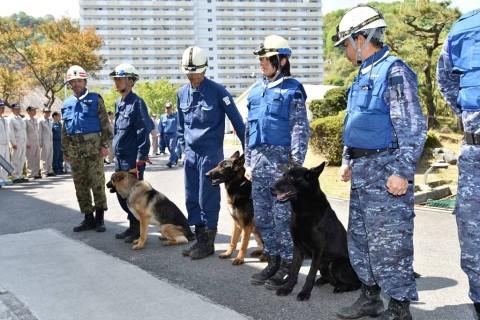 熊本地震への災害派遣(警備犬)3