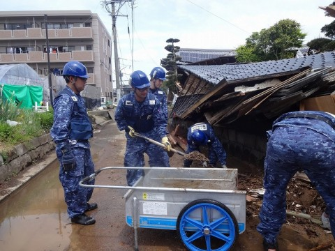 熊本地震への災害派遣(機動施設隊(八戸))02